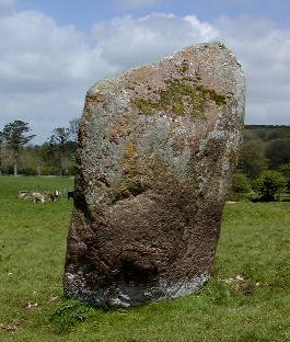 Grange standing-stone - photo by Ian Thompson